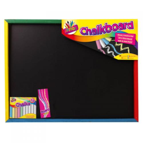 School Large Chalk Board 330x430mm [Pack 1]