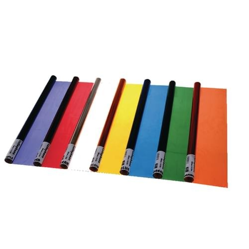School Cellophane 500mmx4.5m Assorted Colours [Pack 7]