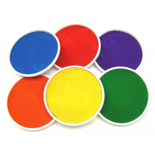 School Giant Ink Pads Washable 150mm Diameter [Pack 6]
