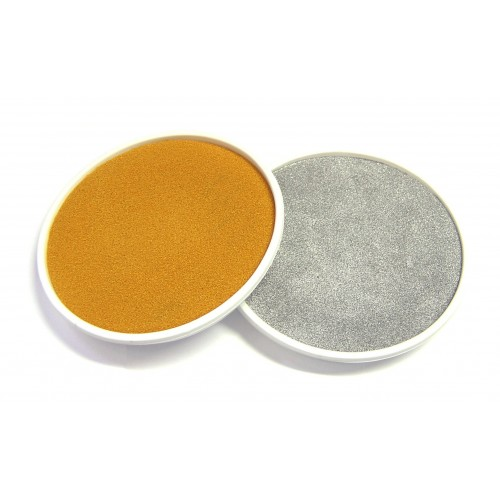 School Giant Ink Pads Gold/Silver Washable 150mm Diameter [Pack 2]
