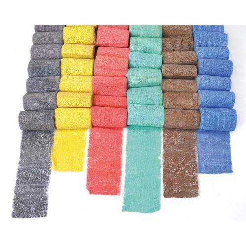 School Modrock Plaster of Paris Assorted Colours 60mmx2m [Pack 48]