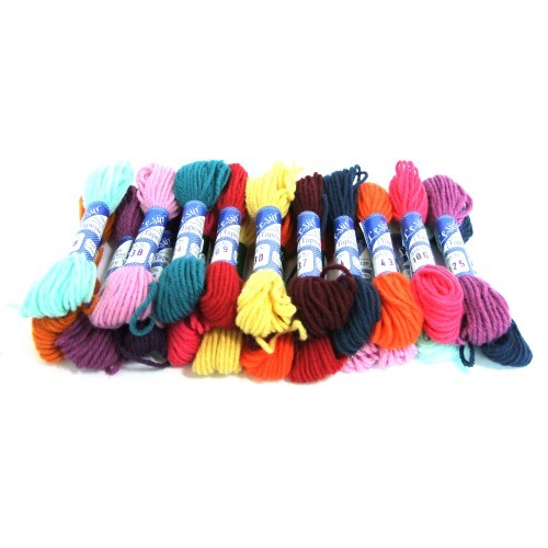 School Wool Skeins 10 Metres Assorted Colours [Pack 20]