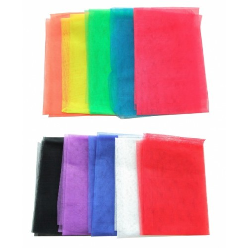 School Nylon Netting Assorted Colours 1x1.5 Metres [Pack 10]