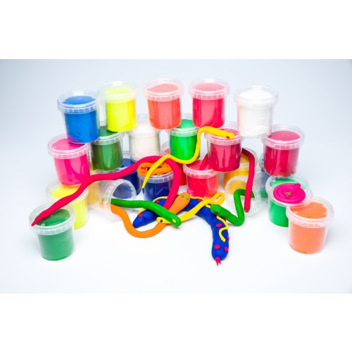 School Modelling Dough Super Soft 150g Tubs 12 Colours [Pack 24]