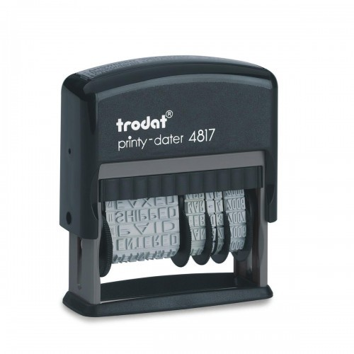 School Dial-A-Phrase Dater Stamp Self-inking Black [Pack 1]