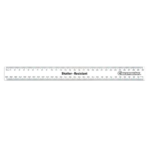 School Ruler Metric Clear Shatter Resistant 30cm [Pack 100]