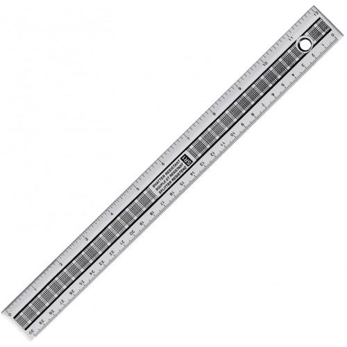 School Ruler Metric/Imperial Clear Shatter Resistant 30cm [Pack 24]