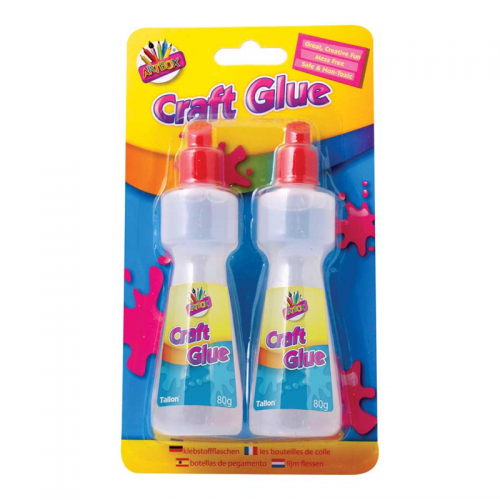 School Craft Glue Applicator Bottle 80ml [Pack 2]