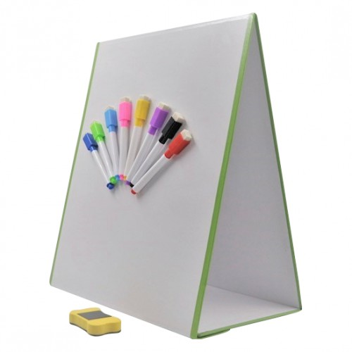 School A3 370x320mm Magnetic Wedge A-Frame Whiteboard Easel [Pack 1]