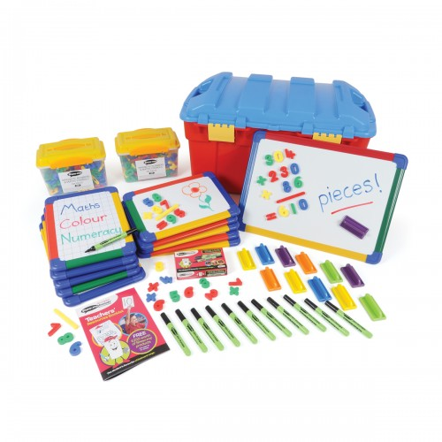 School Numeracy Pack Magnetic Drywipe Boards A4 x 10/A3 x 1, Pens/Erasers x 12, Numbers x 572 [Pack 1]