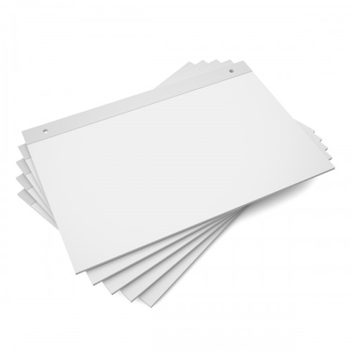 School A2 Flipchart Paper Pads Plain For Use With Item MS5359 [Pack 5]