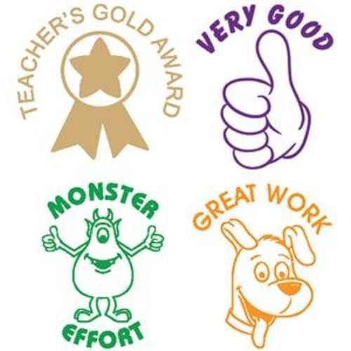 School Motivational Stamps Assorted [Pack 4]