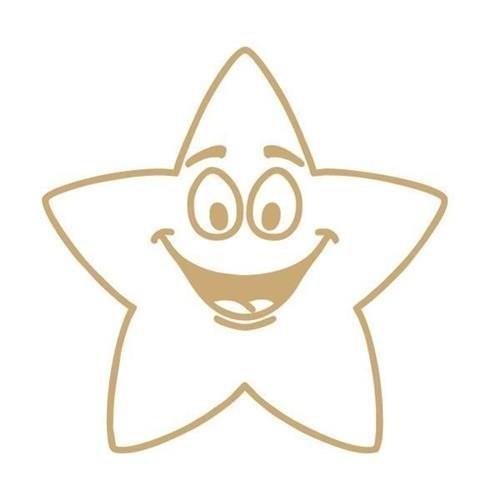 School Motivational Stamp Gold Star [Pack 1]