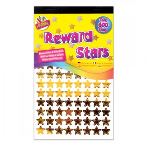 School Reward/Motivational Star Stickers Gold, Silver, Bronze [Pack 600]
