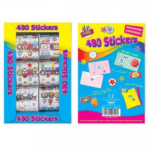 School Foil Stickers Creative Assorted [Pack 480]
