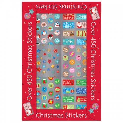 School Christmas Stickers Assorted [Pack 450]