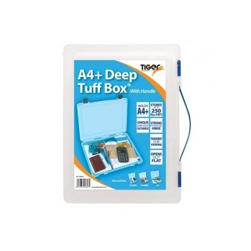 School Tuff Multipurpose Box Plastic 260mm(w) x 353mm(d) x 40mm(h) [Pack 1]