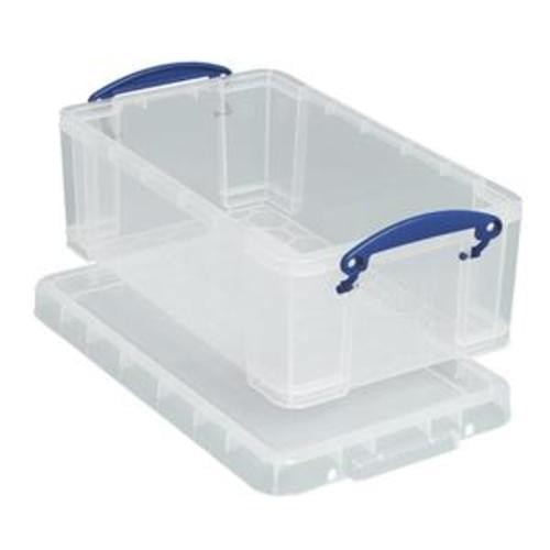 School Stackable Storage Box Plastic 9L 255mm(w) x 395mm(d) x 155mm(h) Clear [Pack 1]