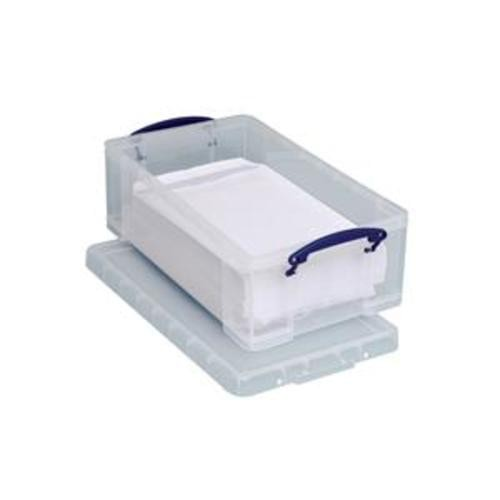 School Stackable Storage Box Plastic 12L 270mm(w) x 465mm(d) x 155mm(h) Clear [Pack 1]