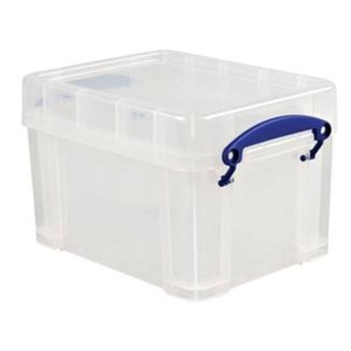School Stackable Storage Box Plastic 3L 180mm(w) x 245mm(d) x 160mm(h) Clear [Pack 1]