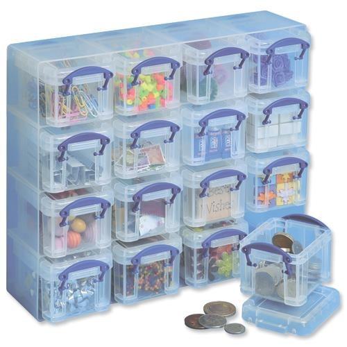 School Organiser Storage Set Plastic 16x0.14L 280mm(w) x 65mm(d) x 224mm(h) Clear [Pack 1]