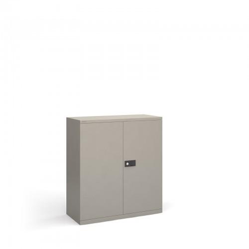 School Locking Steel Cupboard Goose Grey + 1 Shelf [914mm(w) x 400mm(d) x 1000mm(h)]