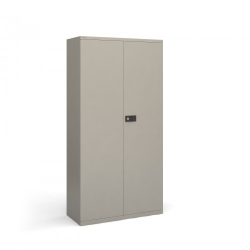 School Locking Steel Cupboard Goose Grey + 3 Shelves [914mm(w) x 400mm(d) x 1806mm(h)]