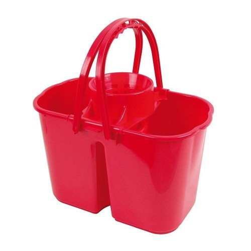 School Double Bucket & Mop Wringer 14 Litre Red [Pack 1]