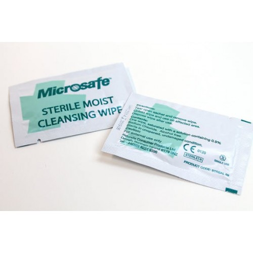 School Sterile Wound Cleansing Wipes Alcohol-Free [Pack 100]
