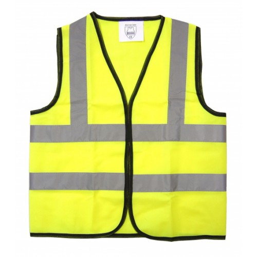 School Hi-Vis Waistcoat Vest Yellow 4-6 Years [Pack 1]