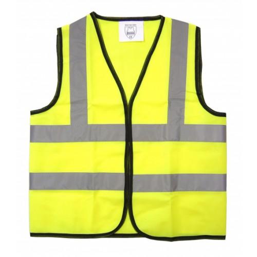 School Hi-Vis Waistcoat Vest Yellow 7-9 Years [Pack 1]
