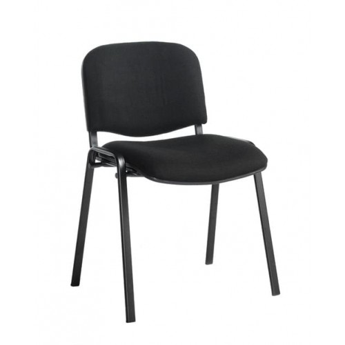 School Meeting/Conference Stacking Chair Black Frame Black Upholstery [Pack 4]