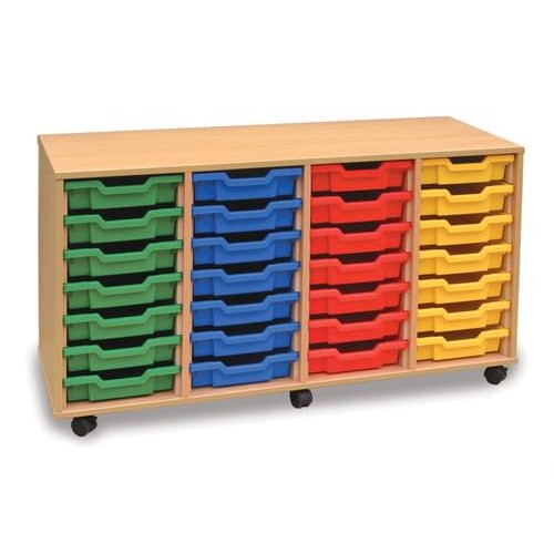 School 28 Shallow Tray Unit Beech [1358mm(w) x 462mm(d) x 703mm(h)]