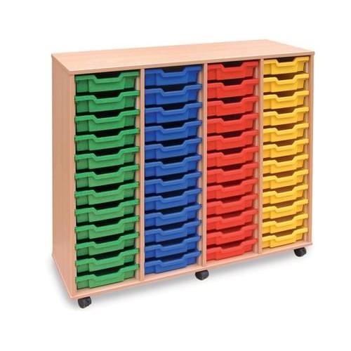 School 48 Shallow Tray Unit Beech [1358mm(w) x 462mm(d) x 1133mm(h)]