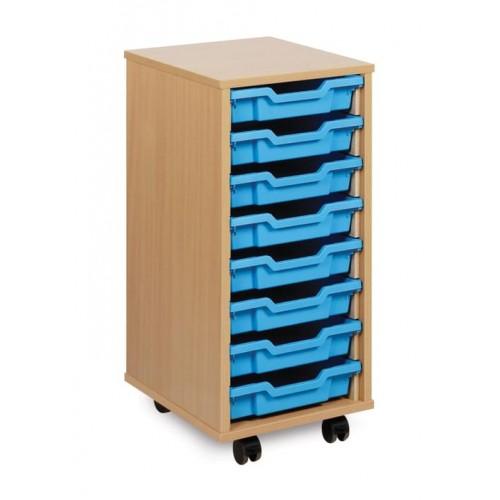 School 8 Shallow Tray Unit Beech [360mm(w) x 453mm(d) x 789mm(h)]