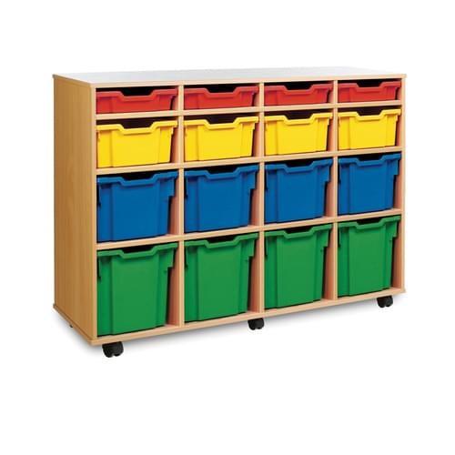 School 16 Variety Tray Unit Beech [1358mm(w) x 453mm(d) x 967mm(h)]