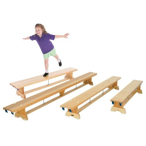 School Traditional Balance Bench 2.67m Hooks On Both Ends