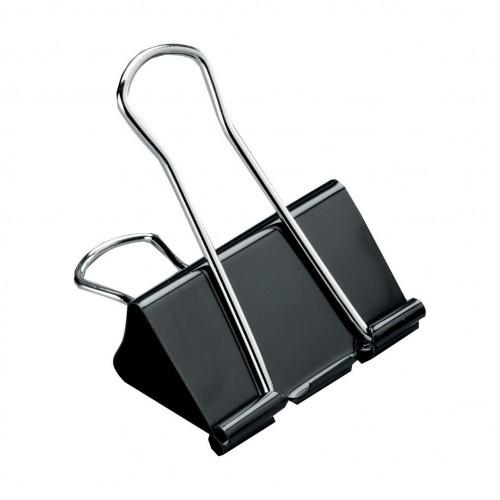School Foldback Clips 25mm Black [Pack 10]