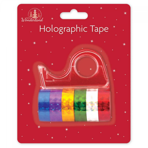 School Assorted Holographic Tape Small Core 12mmx3m [Pack 6]
