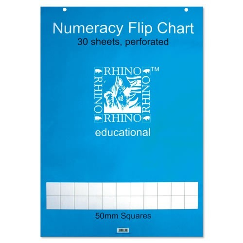 School Flipchart Pad A1 50mm Squares [Pack 5]