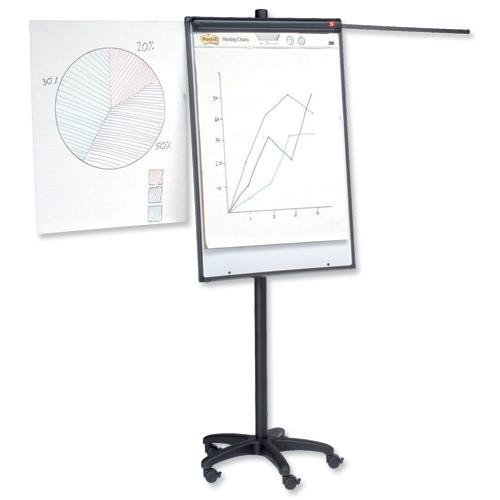 School Flipchart A1 Mobile Easel Magnetic [Pack 1]