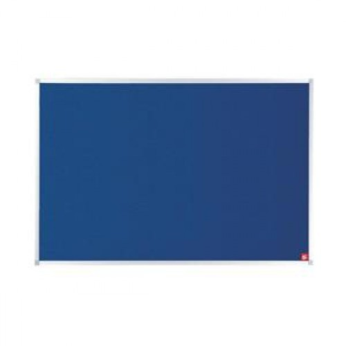 School Felt Noticeboard Blue 900x600mm Aluminium Trim [Pack 1]