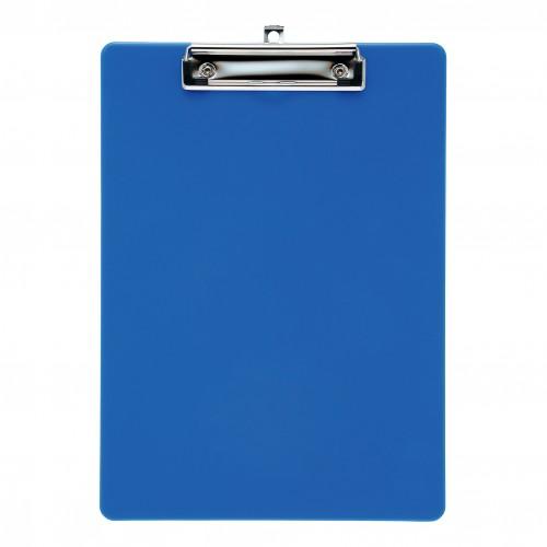 School Clipboard Solid Plastic Blue A4/Foolscap [Pack 1]