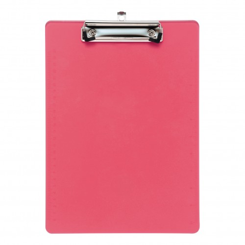 School Clipboard Solid Plastic Pink A4/Foolscap [Pack 1]
