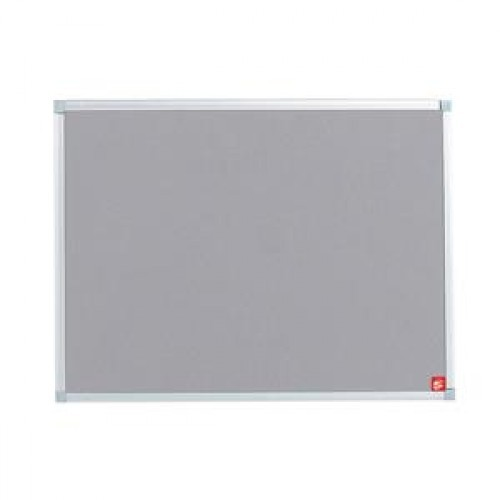 School Felt Noticeboard Grey 900x600mm Aluminium Trim [Pack 1]