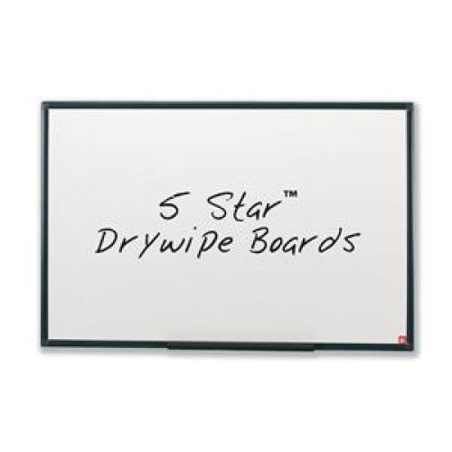 School Drywipe Whiteboard Non-Magnetic 600x450mm Graphite Grey Trim [Pack 1]