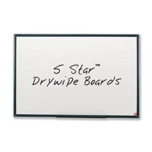 School Drywipe Whiteboard Non-Magnetic 900x600mm Graphite Grey Trim [Pack 1]