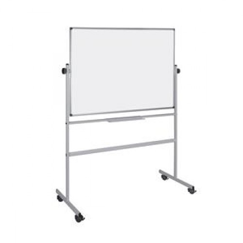 School Drywipe Whiteboard Magnetic Mobile Revolver 1500x1200mm [Pack 1]