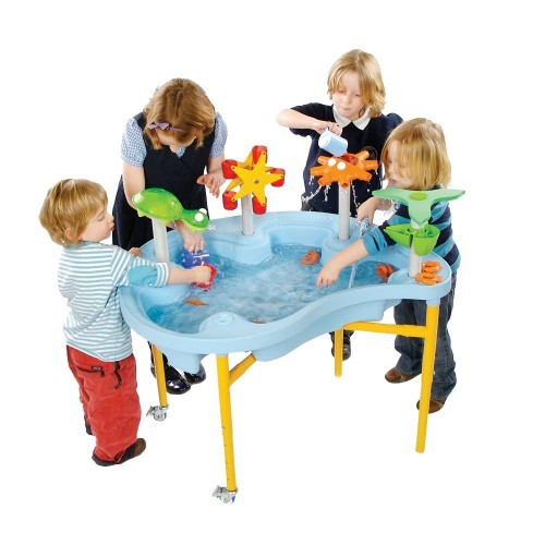 School Sand & Water Tray/Lid + Toy Pack [756mm(w) x 177mm(d) x 980mm(l) x 440-650mm(h)]
