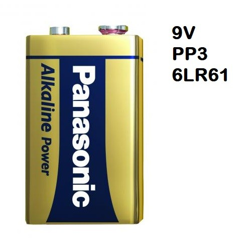 School Alkaline Batteries 9V [Pack 1]